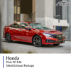 Honda Civic FC 1.8L Silent Exhaust Package
