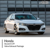 Honda Accord 1.5T Twin Valve Exhaust Package
