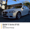 BMW F10 5 Series 530i I6 Sport Exhaust Package