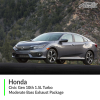 Honda Civic Gen 10th 1.5L Turbo Moderate Bass Exhaust Package